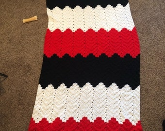 Chicago Bulls Crochet Blanket