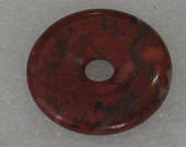 Large Red Jasper Stone Donut 30mm
