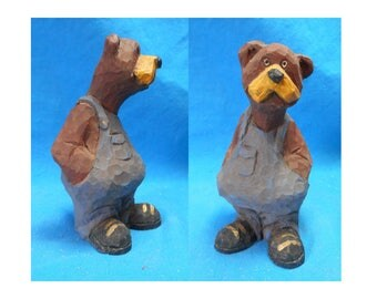 Adirondack Hillbilly Bear Woodcarving #17116
