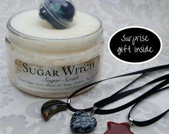 Sugar Witch Body Scrub - Surprise Gift Inside - Exfoliating Sugar Scrub - Surprise Bath Gift - Vanilla Sugar Scrub