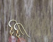 20% OFF Sunstone Gemstone Earrings- 14k Gold Fill or Argentium Sterling Silver