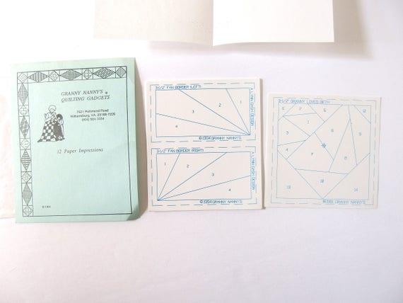 Granny Nanny's Miniature Paper Piecing Quilting Gadgets, from ... : quilting gadgets - Adamdwight.com
