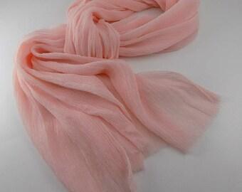 Handmade Silk Scarf --- Blush
