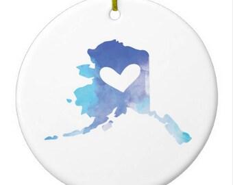 Alaska Christmas Ornament