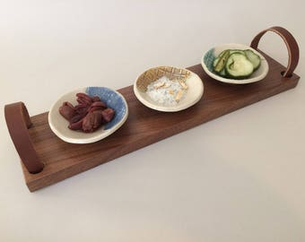 Wooden Appetizer Tray with Handles