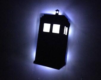 Illuminated Dr. Who/ Tardis Sign