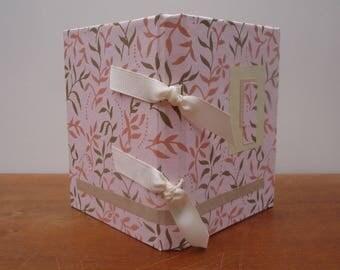 Pink stenciled book