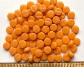 100 8mm Melone Orange Runde MINI Liebling DOTZ / / Recycling-Glas-Mosaik-Fliesen/Mosaik / / Mosaik liefert / / Handwerk