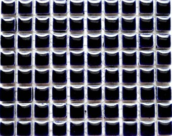 100 (10mm) MINI Indigo Cobalt Blue Glazed Ceramic Tiles Mosaic Supplies//Mosaic Pieces//Crafts