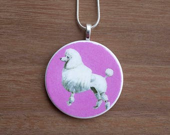 Poodle Pendant Necklace, Poodle Necklace, Poodle Jewelry, Handcrafted Jewelry, Gift for Dog Lovers, Free Shipping in US