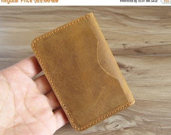 On Sale 20% off minimal wallet leather, personalized leather wallet, leather card holder for men and women