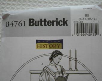 Butterick B4761 Making History Dress Size BB 8 10 12 14 Historical Costume Little Women