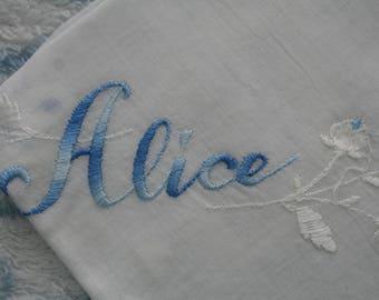 Vintage Bride's Hankie Alice Something Borrowed Something Blue