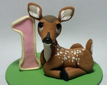 Fawn Birthday Cake Topper