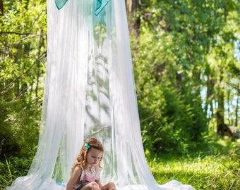 Nursery Decor -Bohemian Nursery  - Bohemian Baby - Bed Canopy - Bohemian Decor - Mosquito Net - Silk Canopy - Indoor Tent - Indoor Canopy