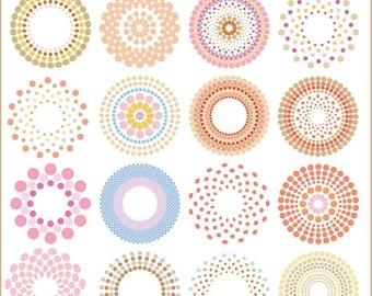 50%OFF Circle clipart, halftone circle clipart, vector circle clipart, multi dot circle clipart, dotted circle clipart, retro circle cl