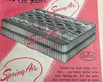1951 Spring Air matress ad 5 1/2 x 7 1/2.
