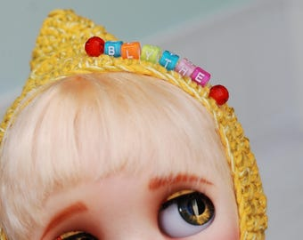 Hat Crochet for Blythe Yellow Sweet
