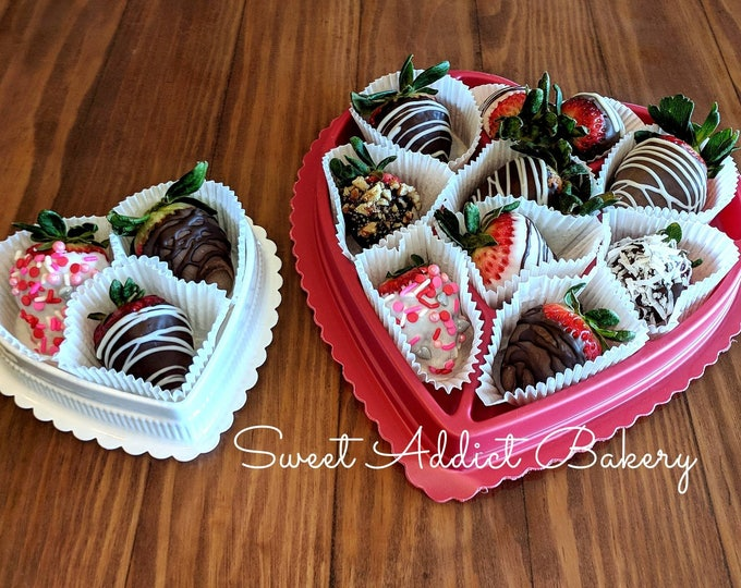 CHOCOLATE COVERED STRAWBERRIES - local Colorado Springs area only - cannot be shipped -delicious gourmet chocolate over organic strawberries