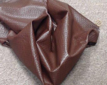 OSM32.  Brown Italian Embossed Leather Lambskins