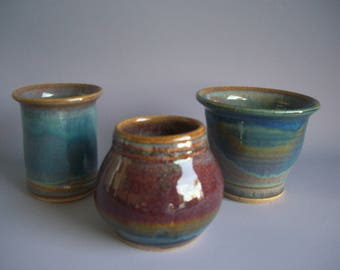 Hand thrown stoneware pottery jar suite  (JS-5)