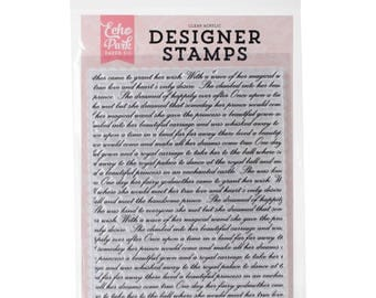 Echo Park Once Upon A Time Background Stamp set - STORYBOOK