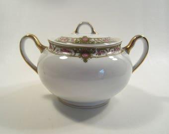 Vintage N & Co Nagoya Nippon Sugar Bowl Gold Trim