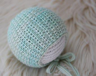Knitting Pattern, Reversible, Knit PDF Pattern,  Newborn Hat Pattern, PHOTO shoot prop,  Knit, Tutorial, PDF, Newborn hat, Charlie Bonnet