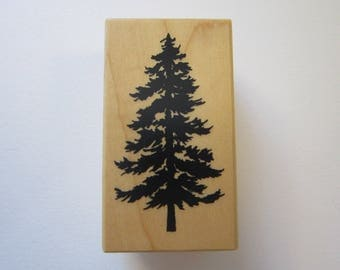 rubber stamp - pine tree - PSX D-1163 - circa 2001