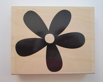rubber stamp - BIG BLOSSOM - Stampin Up - extra large flower stamp - used rubber stamp