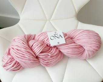 Super Chunky Yarn. Merino Wool. Knitting Yarn. Candy Floss Pink
