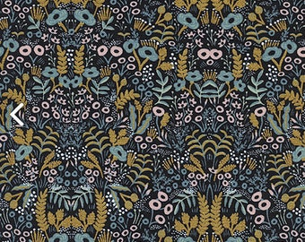 Cotton and Steel Menagerie Tapestry Midnight