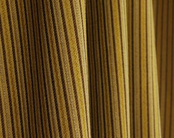 Brown Gold Striped Fabric