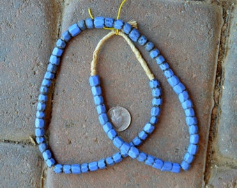 Antique Faceted Russian Blue Bleads