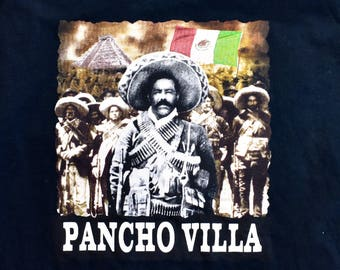 Pancho Villa T-Shirt, Size Large, 100% Cotton