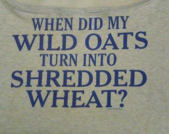 Wild Oats T-shirt Shopping Tote (101)