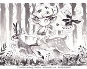 Original InkTober 2017 drawing Day 1 Swift Illustration