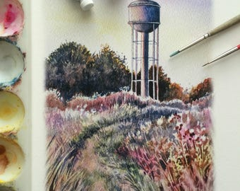 Brooklin Watertower - sunset version - print