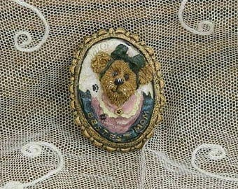 "Boyd's Bear ""Bestest Mom"" Brooch Pin"