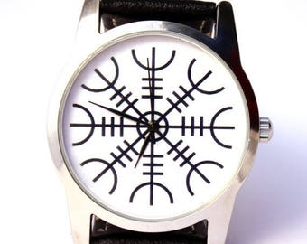 ON SALE 25% OFF Watch Viking symbol Aegishjalmr Helm of awe protection symbol