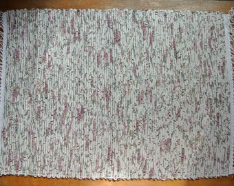 Hand Woven Cotton-Cotton/Poly Rag Rug-Union #36 Rug Loom-Scandinavian-Rose