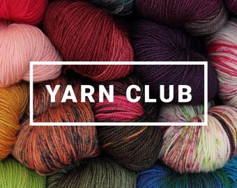 Sock yarn club - hand-dyed superwash ethical merino 4 ply/sock weight, 3 months starting July 2017