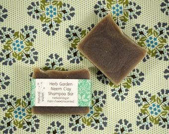 Neem Shampoo Bar - Solid Shampoo Bar - All Natural Shampoo - Palm Free and Vegan Shampoo - Zero Waste Shampoo Soap