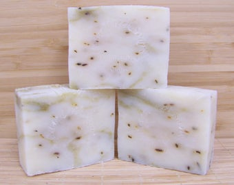 Peppermint Tea Tree Soap All Natural Peppermint Tea Tree Cold Processed Soap Organic and Vegan Soap