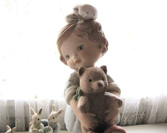Vintage Enesco Figurine Time For Bed Memories of Yesterday from AllieEtCie