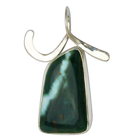 Bloodstone Pendant Set in Sterling Silver  pbsg2848