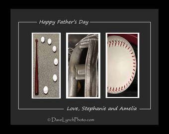 Happy Father's Day Dad -BASEBALL Typography - Letters - Men -Quotes - Alphabet - Color - Black & White - Vintage Sepia- Photos By Dave Lynch