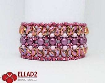 Tutorial Milun Bracelet - Beading tutorial with Zoliduo beads, design by Ellad2