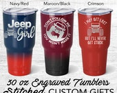 Jeep inspired Travel Tumbler | yeti Style cup | jeep custom | jeep gift ideas | gift for man birthday | Engraved personalized | jeep girl |