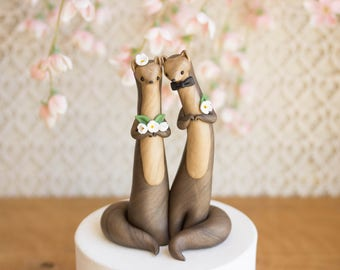 Pine Marten Wedding Cake Topper by Bonjour Poupette